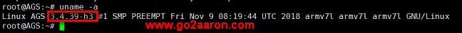 移植的官方 3.4.39 内核